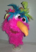 "C19 * Deluxe Custom ""Pink / Rainbow Bird""  Sock Puppet * Custom Made - $10.00"