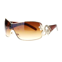 Womens Shield Sunglasses Oversized Rectangular Heart Design - $9.85+