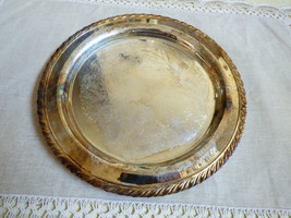 "Oneida USA Silver Plated 10.25"" Serving Tray round platter - $34.65"