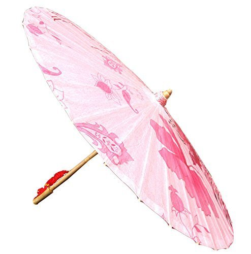 [Rose Design] Rainproof Handmade Chinese Oil Paper Umbrella 33 inches