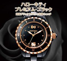 Hello Kitty Premium Black Luxury Black Ceramic Jewelry Watch limited - $563.35