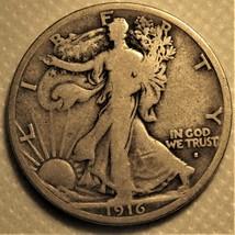 1916-s Liberty Walking Half Dollar. Rare key date! - $155.00