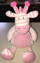 "Giggle Baby Pink Striped Soft Giraffe Plush Manhattan Toy 17"" Sewn Featu... - $19.79"