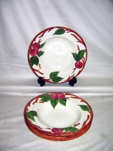 "Franciscan Apple England (4) Hand Painted 8 1/2"" Soup Cereal Bowls - $44.50"