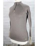 THE NORTH FACE Half Zip Pullover Fleece Jacket/Top Women's Medium Brown - $44.55