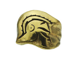 24K GOLD PLATED Trojan Soldier Warrior SPARTAN 300 gladiator Head ring J... - $65.48