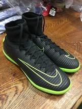 nike mercurialx proximo ii ic Indoor Soccer Shoes Black Green Size Man 8... - $163.63