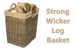 Fireside Wicker Log Basket Wood Carrier Storage Removable Lined Dust Pro... - $68.28