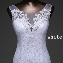 Lace floral mermaid Wedding Dress at Bling Brides Bouquet Online Bridal Store image 14