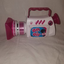 "Barbie On Air Toy Video Camera Camcorder Talking Sounds Lights Works 4"" - $9.99"