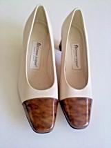 Etienne Aigner Cream White Brown Women Shoes 6M... - $18.49