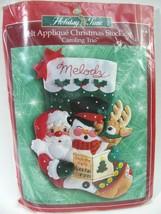 Bucilla Stocking Kit Felt Applique Caroling Trio 84189 Xmas Santa USA 18... - $29.69