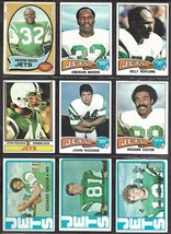 New York Jets Topps 1970's Football Card Lot incl. John Riggins Emerson ... - $6.35