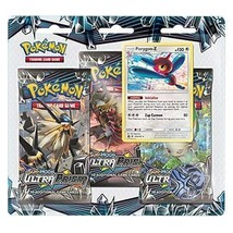 Pokemon Sun & Moon Ultra Prism 3-Pack Booster Blister Pack Porygon-Z Promo - $19.95