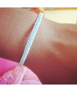 Fair Trade Skinny White Wax Cotton Classic Thai Wristband Handcrafted Wr... - $5.39