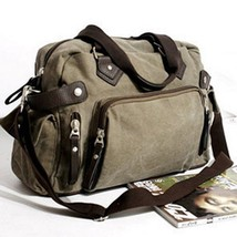 Vintage Men's Canvas Handbag Casual Shoulder Messenger Bag Schoolbag Large - $39.99
