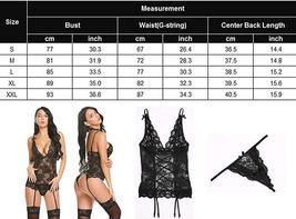 Women's Sexy Backless Lace Babydoll with Garter Sexy Lingerie Set image 8