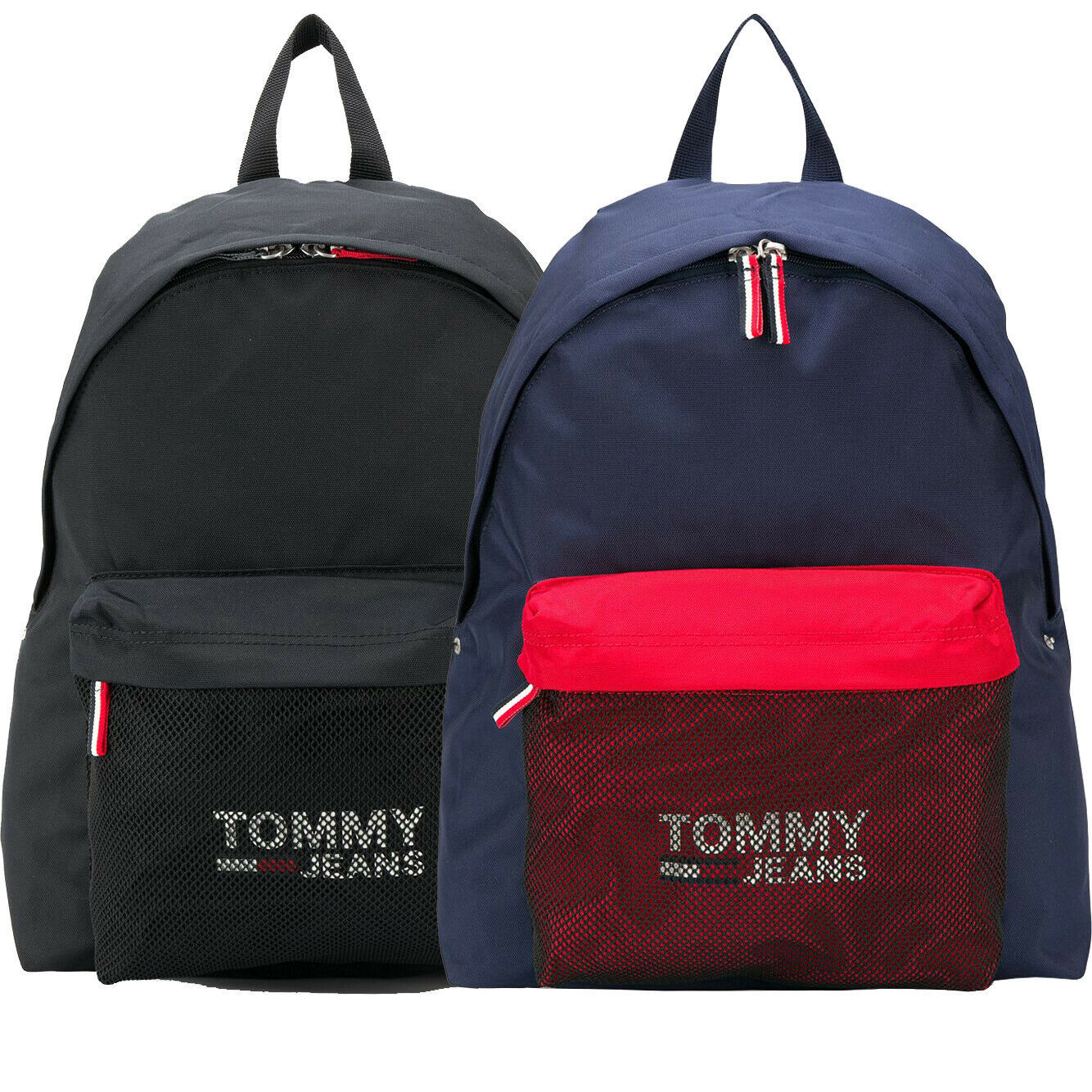 Tommy Jeans Cool City Logo Print Mesh Pocket School Shoulder Book Bag Backpack