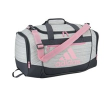 TWO TONE WHITE/TRUE PINK adidas Defender III Small Duffle Bag (D) - $148.49