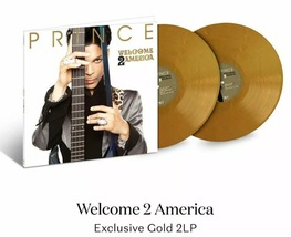 """Prince Welcome 2 America 2LP Ltd Gold Vinyl 12"""" Etched - £58.17 GBP"""