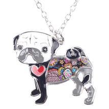 Necklaces Pendant Dog Pug Animal Zinc Alloy New Female Fashion Jewelry Accessory image 4