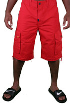 LRG Lifted Research Group Sharks Landing Red Walk Cargo Shorts NWT image 2