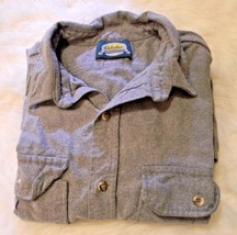 Cabela's Outdoor Gear Shirt Men's Size L Button Down Gray - $14.54