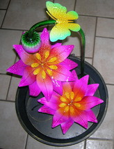 Gordmans Electric Lotus Garden/Butterfly Water Fountain #17945 UPC:40000... - $79.19