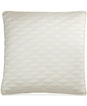 New Hotel Collection Woven Texture Euro European Pillow Sham Ivory Quilt... - $78.39