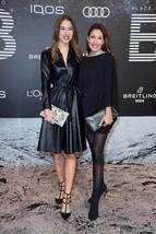 Beautiful Women Celebrity Replica Casual Long SleeveLeather Dress For Wo... - $180.00