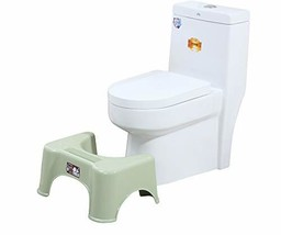 Toilet Stool for Bathroom - Space Save Durable Non-Slip Potty Stool for Elderly