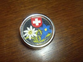 Vintage MAPSA Swiss Music Box Switzerland EDELWEISS West Germany Natural... - $18.69