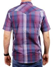 NEW LEVI'S MEN'S CLASSIC COTTON CASUAL BUTTON UP PLAID INDIGO RED RDCR-3LYSW6102 image 3