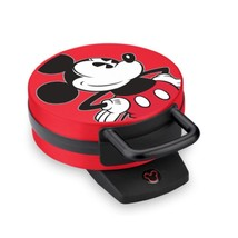 """Disney Mickey Mouse 6"""" 800-watt NonStick Electric Waffle Iron Maker Re... - €27,72 EUR"