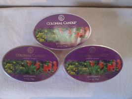 3 Colonial Candle ~~WILDFLOWERS~~ Scented Tarts Snaps 2.4 oz ovals - $16.00