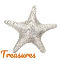 """Starfish Wall Decor Large 21"""" Aluminum Shiny Silvery Coastal Tropical Decor - $89.09"""
