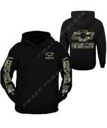 Camo Chevy Hoodie Sweatshirt Hoodie Sweatshirt Front & Back - $34.99+