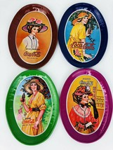 Coca Cola Vintage  Collectibles Lot Of 4 Mini Tin Oval Trays with Victor... - $23.75