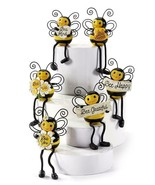 Set of 6 Bumble Bee with Dangly Legs Shelf Sitters with Sentiments Polys... - $98.99