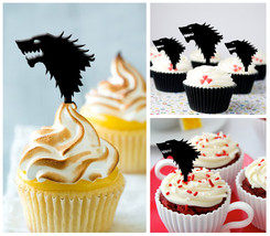 Ca49 Decorations cupcake toppers game of thrones Silhouette Package : 10 pcs - $10.00