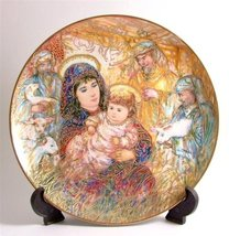 Bradford Exchange Knowles Edna Hibel Christmas plate for 1988 The Adoration of t - $49.99