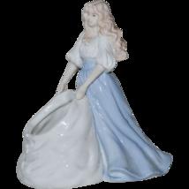 "Porcelain House of Lloyd Figurine Girl Lady Women Vintage w Bag 7"" Plant... - $19.79"