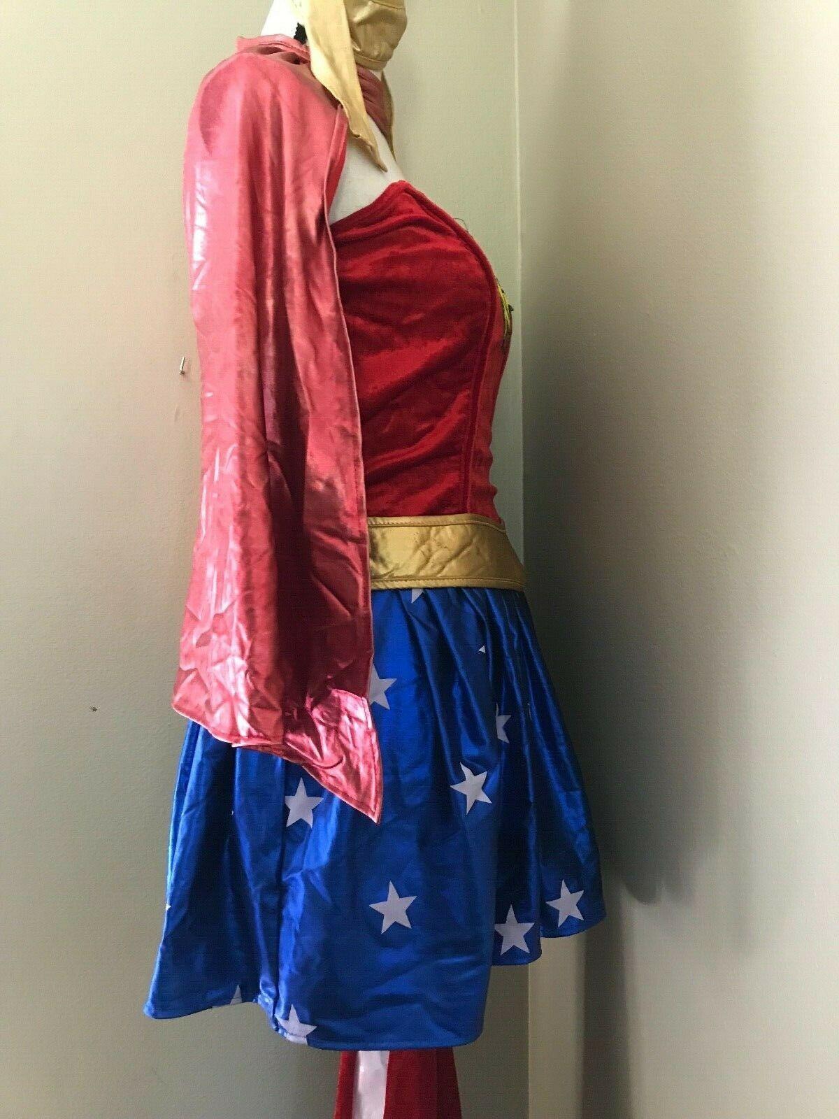 Justice Ligue Wonder Woman ADULTE S Déguisement Rubies Robe Cape Bottes Bandeau