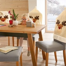 4pcs Set Christmas Elk Chair Covers Cute Deer Design Home Dinner Decorat... - $28.99