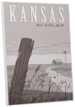 "Pingo World 0205Q6FTCIY ""Steve Thomas No Place Like Kansas"" Gallery Wrap... - $53.41"