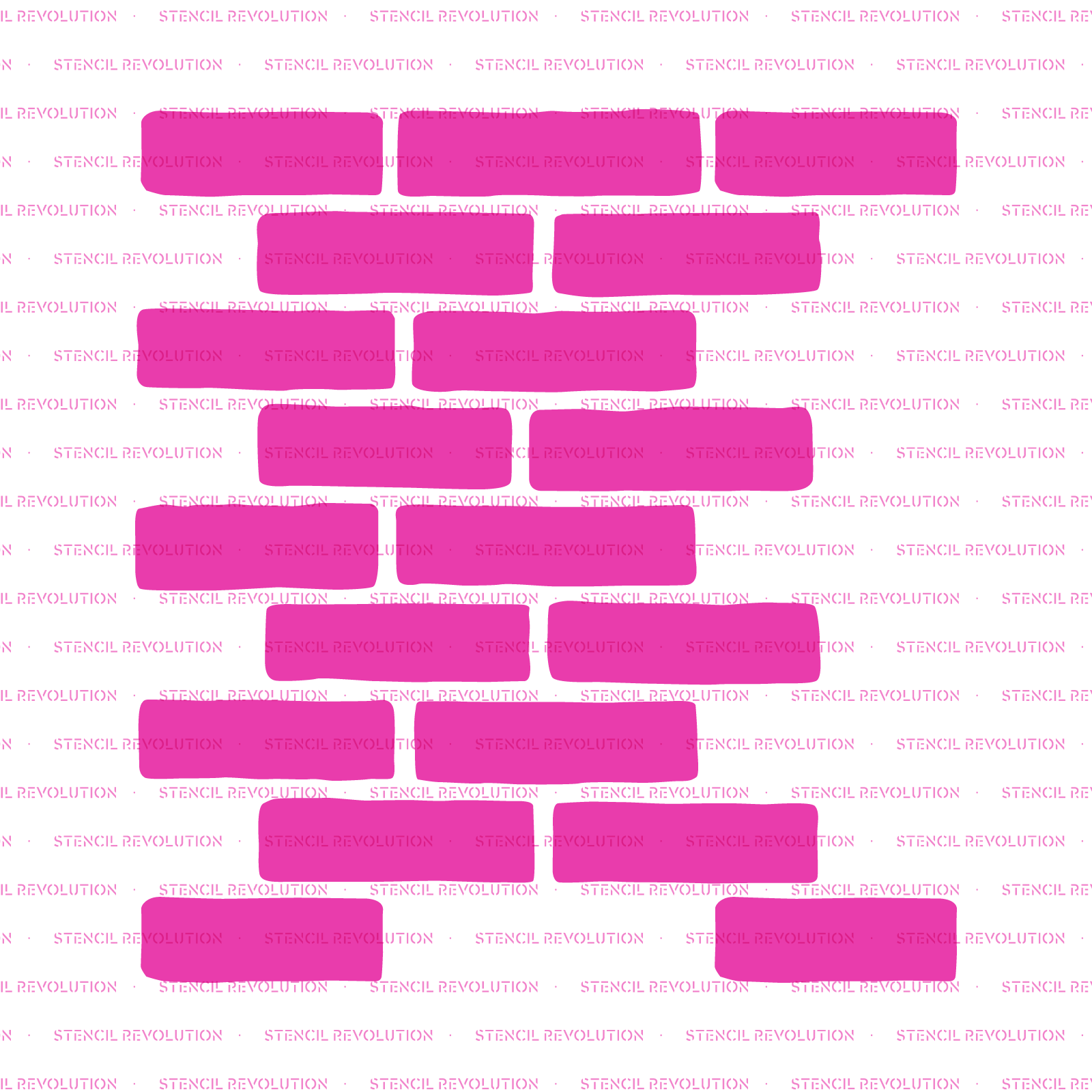 "Brick Stencil - Reusable Wall Stencils of Brick Pattern - 33"" x 21"" Size"