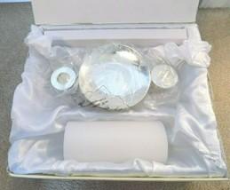 New--Lenox Opal Innocence Unity Candle Holder #771631--FREE SHIPPING! - $36.51
