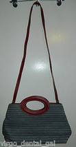 Nwot Liz Claiborne Blue & Red Country Chic Hobo Handbag Purse - $19.80