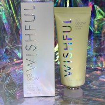 NEW IN BOX Wishful By Huda Kattan Yo Glow Enzyme Scrub Travel Size 45mL/1.35 oz.