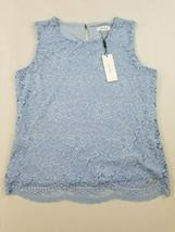 Nuevo Calvin Klein Mujer Blusa Top Azul L Msrp - $26.03